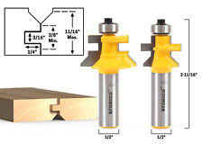 amana tool solid tongue and groove flooring router bit set 2 flute