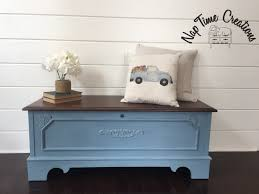 lane cedar chest painted in general finishes stillwater blue and