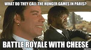 Hunger Games Funny Memes - dueling movies the hunger games vs the running man no seriously