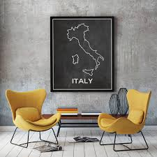 italy map of italy chalkboard map outline map of italy italian map