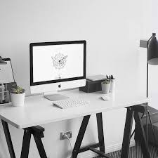 White Office Desk by Best 25 Office Setup Ideas That You Will Like On Pinterest