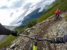 Girdwood Alaska Map by Alyeska Downhill Mountain Bike Trail In Girdwood Alaska