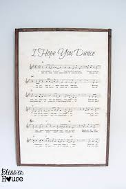 diy oversized sheet music sign