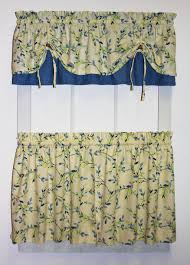 Yellow Gingham Valances by Vintage Vine Print Versa Tie Valance Window Curtain Window Toppers