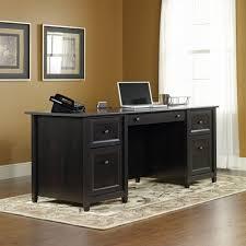 Black Friday Home Decor by Sauder Edge Water Executive Desk Estate Black Walmart Com