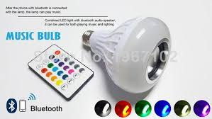bluetooth music light bulb wireless bluetooth music led bulb speaker with remote control