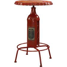 powell 867 350 pub table w bottle shaped wine holder post