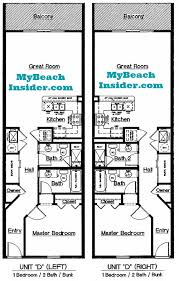 2 Bedroom Condo Floor Plan Celadon Beach Resort Condo Floor Plans Panama City Beach
