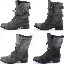 womens combat boots uk combat boots low heel 0 5 1 5 in lace up shoes for ebay