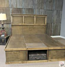 King Size Platform Bed Frame With Storage Plans by Platform Bed With Storage Tutorial Platform Beds Bed Plans And