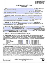 free massachusetts standard residential lease agreement form u2013 pdf