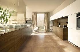 alternatives to ceramic tile in kitchen with curtains and