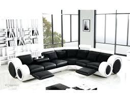 Modern Italian Leather Sofas Modern Italian Black White Corner Leather Sofa Suite Sofa