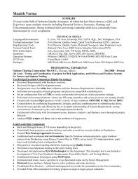 Sample Resume For Experienced Software Tester by Qa Tester Resume Templatebillybullock Software Test Engineer