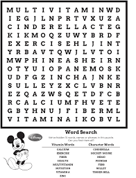 Printable Halloween Word Search Puzzles by Disney Word Search Puzzle Kiddo Shelter Educative Puzzle For
