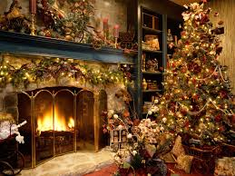 beautiful christmas tree and fireplace best hd wallpapers and covers