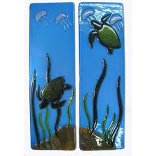 Glass Wall Panels Sea Turtle Fused Glass Wall Panels Mill Creek Glass