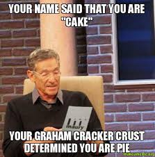 Cracker Memes - your name said that you are cake your graham cracker crust