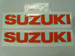 pair of genuine suzuki tank sticker decals gsx750 gsx1000 gsx1100