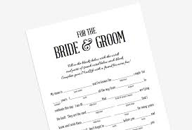 wedding mad libs custom designs wedding mad lib stevie storck design co