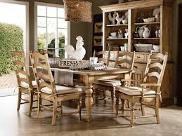 Bench Style Dining Room Tables Furniture Farmhouse Dining Chairs Round Dining Table Sets