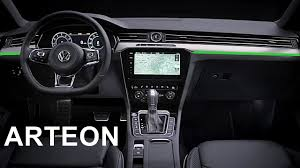volkswagen sedan interior 2017 volkswagen arteon interior youtube