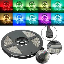 dc led strip lights 5m rgb non waterproof 300 led smd 5050 led strip light dc 12v us 5 99
