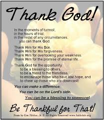 let s concentrate on being thankful and never taking for