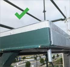 scaffolding hop up bracket tie bars worksafe qld gov au