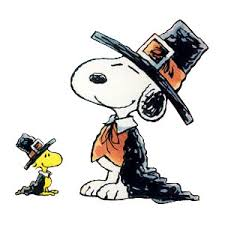 peanuts snoopy woodstock pilgrim thanksgiving thanks for giving