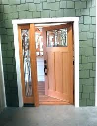 Exterior Door With Side Lights Front Door With One Sidelight Front Door Sidelight Glass Front