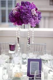 purple centerpieces silk flowers for wedding reception 25 purple centerpiece