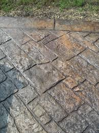 stamped concrete stamped concrete driveway after for the