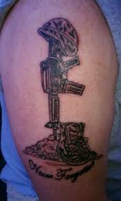 amazing fallen army soldier tattoo on biceps tattooshunt com