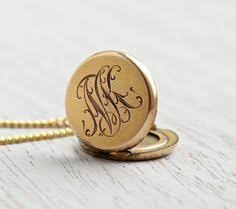monogrammed locket antique monogrammed locket necklace vintage gold filled 1930s