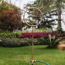 vortex ornamental decorative copper finish garden water sprinkler