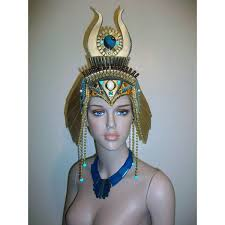 Mardi Gras Halloween Costume Cleopatra Headdress Egyptian Headdress Kentucky Derby Mardi
