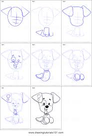 how to draw bubble puppy from bubble guppies printable step by