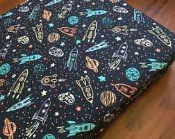 Rocket Ship Crib Bedding Space Crib Bedding Etsy