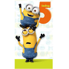 5 today minions birthday card minion shop