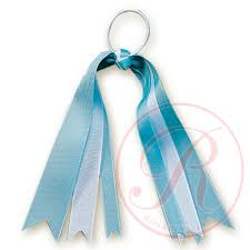 hair ribbon light blue white hair ribbon hb130 grosgrain