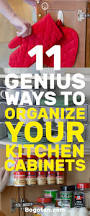 How To Organize A Kitchen Cabinets Genius Diy Ways To Organize Your Kitchen Cabinets