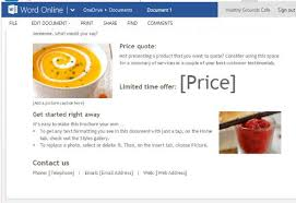 digital brochure maker for word online