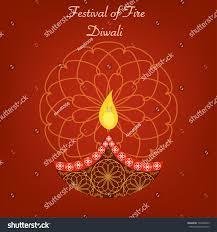 beautiful diwali vector card greetings diwali stock vector