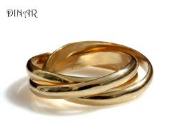 intertwined wedding rings wedding band intertwined rolling ring three 3mm wide