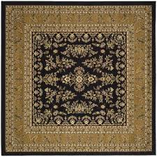 Safavieh Lyndhurst Collection Safavieh Lyndhurst Traditional Oriental Black Tan Rug 8 U0027 X 8