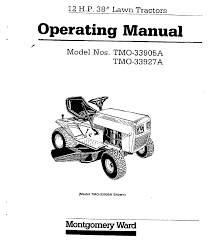 montgomery ward lawn mower tmo 33927 a user guide manualsonline com