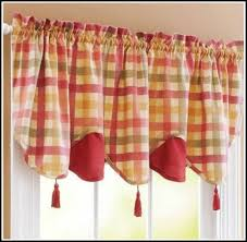 Country Plaid Curtains Endearing Blue Plaid Kitchen Curtains Decorating With Red White
