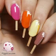 magnum ice cream nail art with video tutorial ice cream nails