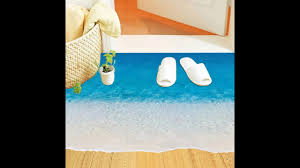 3d beach art floor sticker home decor decoration for living room